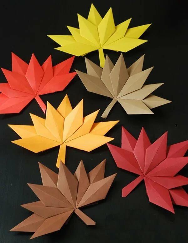 Поделка на тему осень из бумаги пошаговое фото
