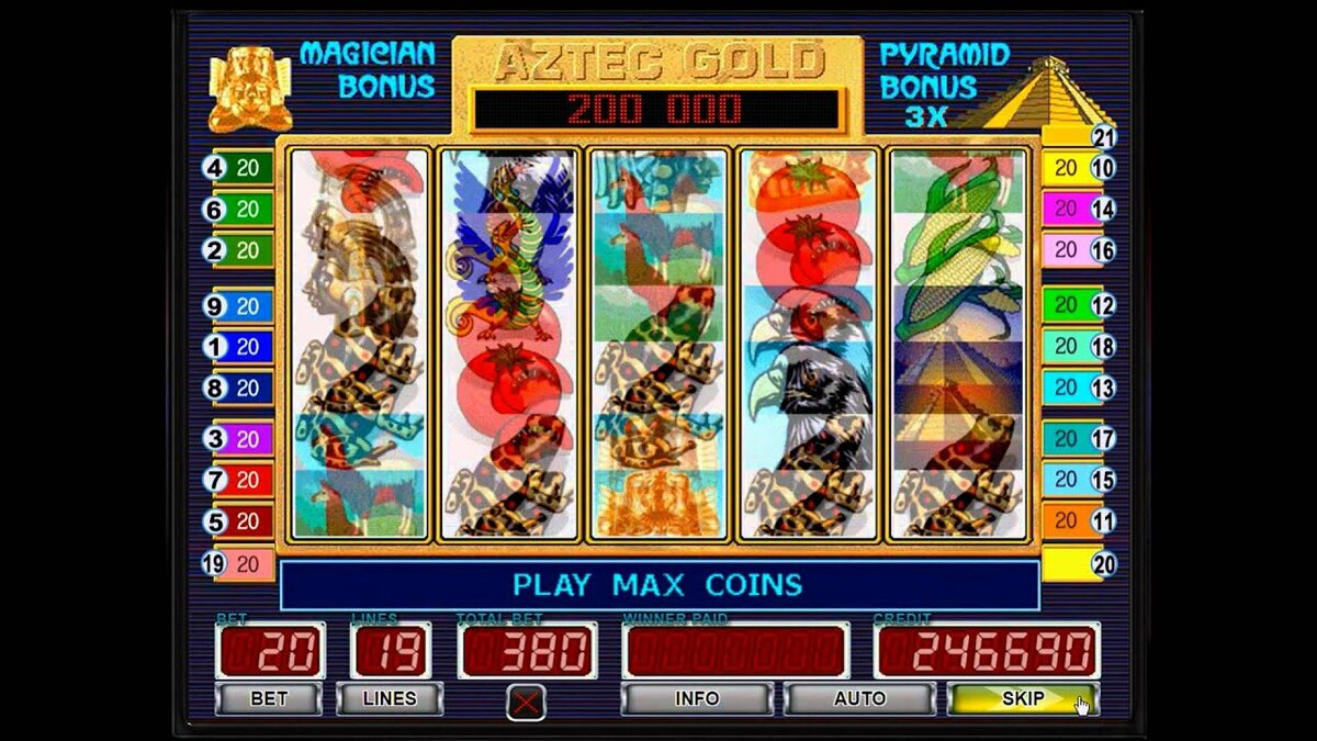 Пирамидалар азтек алтын ойын автоматы