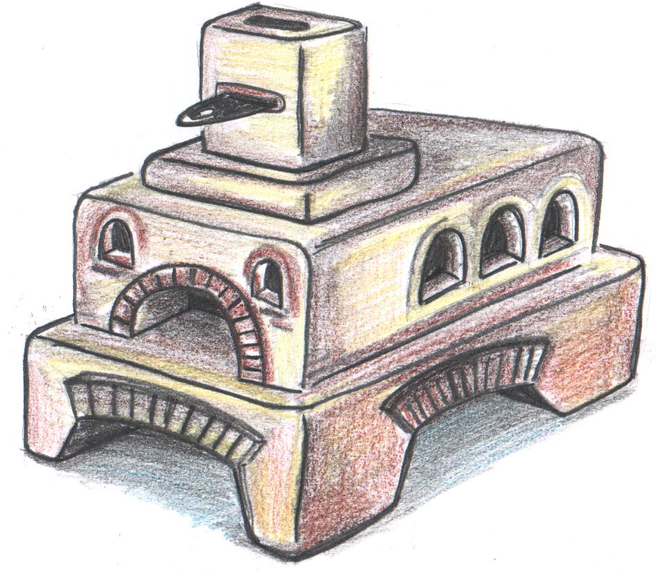 Картинки печка карандашом