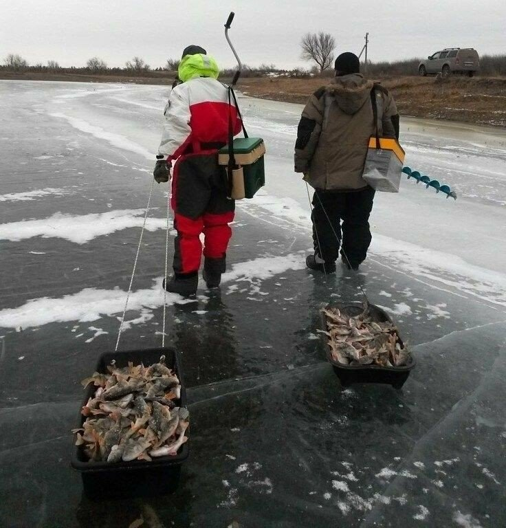 Рыбалка на реке волга зимняя