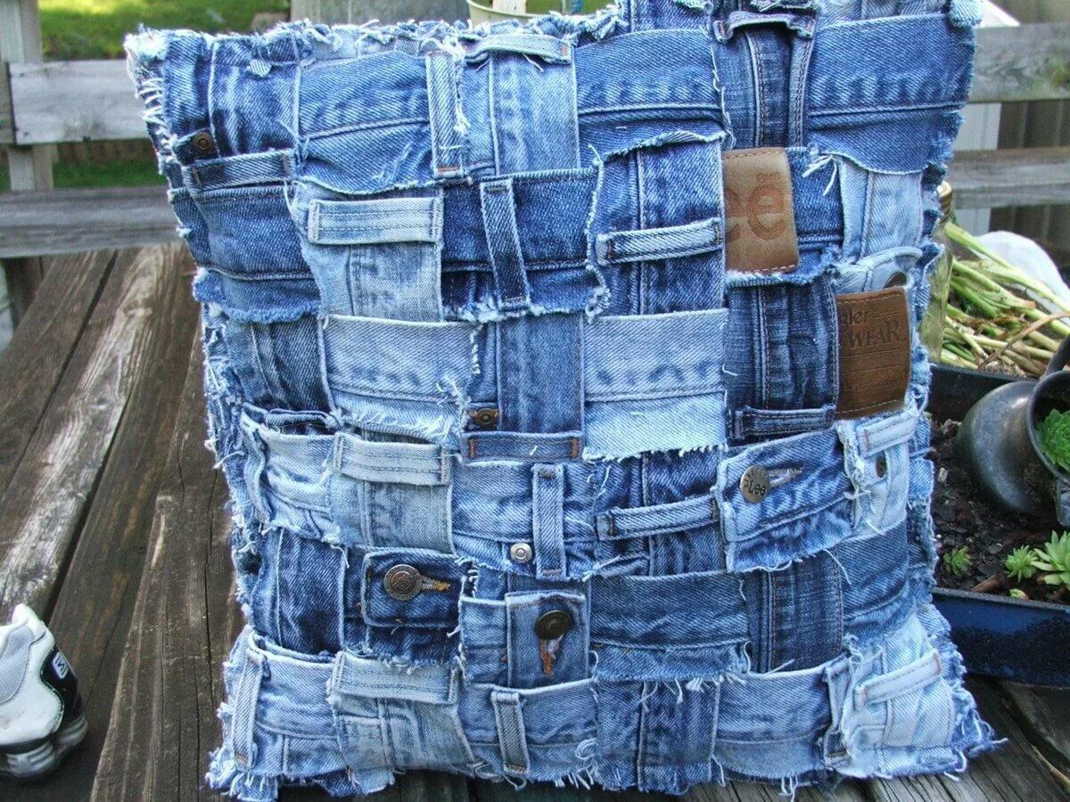 Изделия из старых джинсов картинки