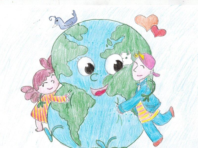 Рисунок на день земли в школе