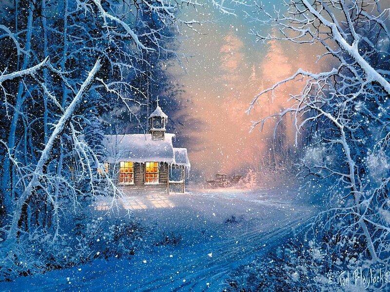 Картинки зимы красивые блестящие