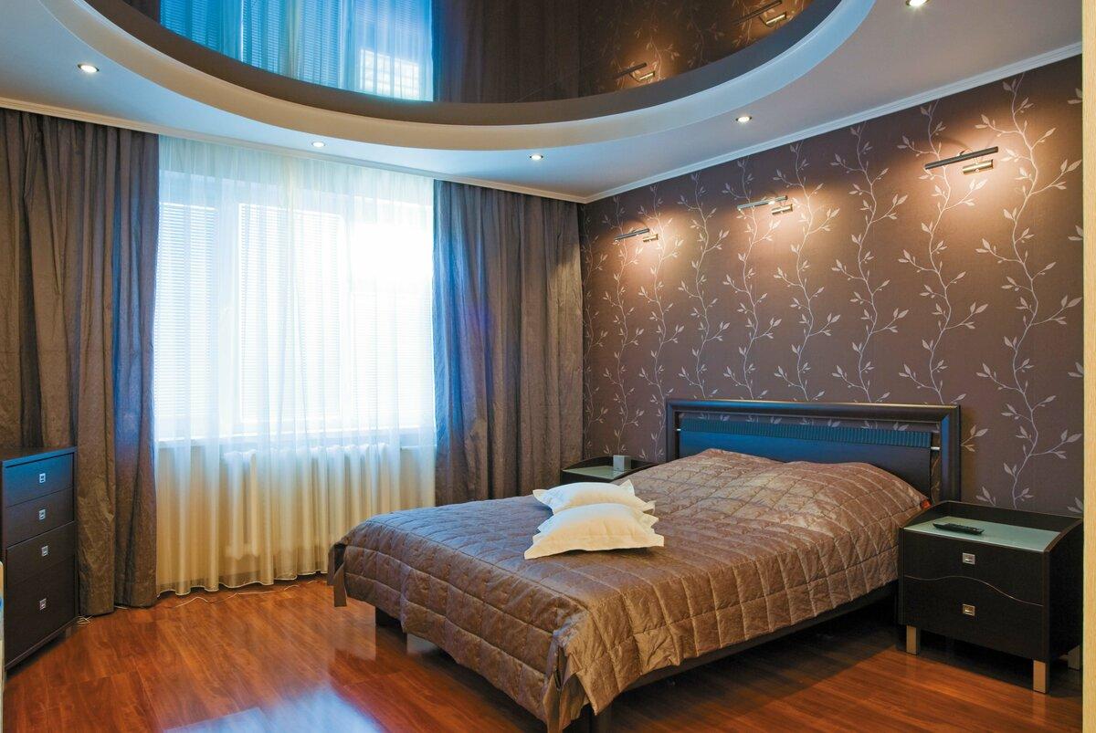 этом расположение варианты натяжных потолков для спальни фото могилы