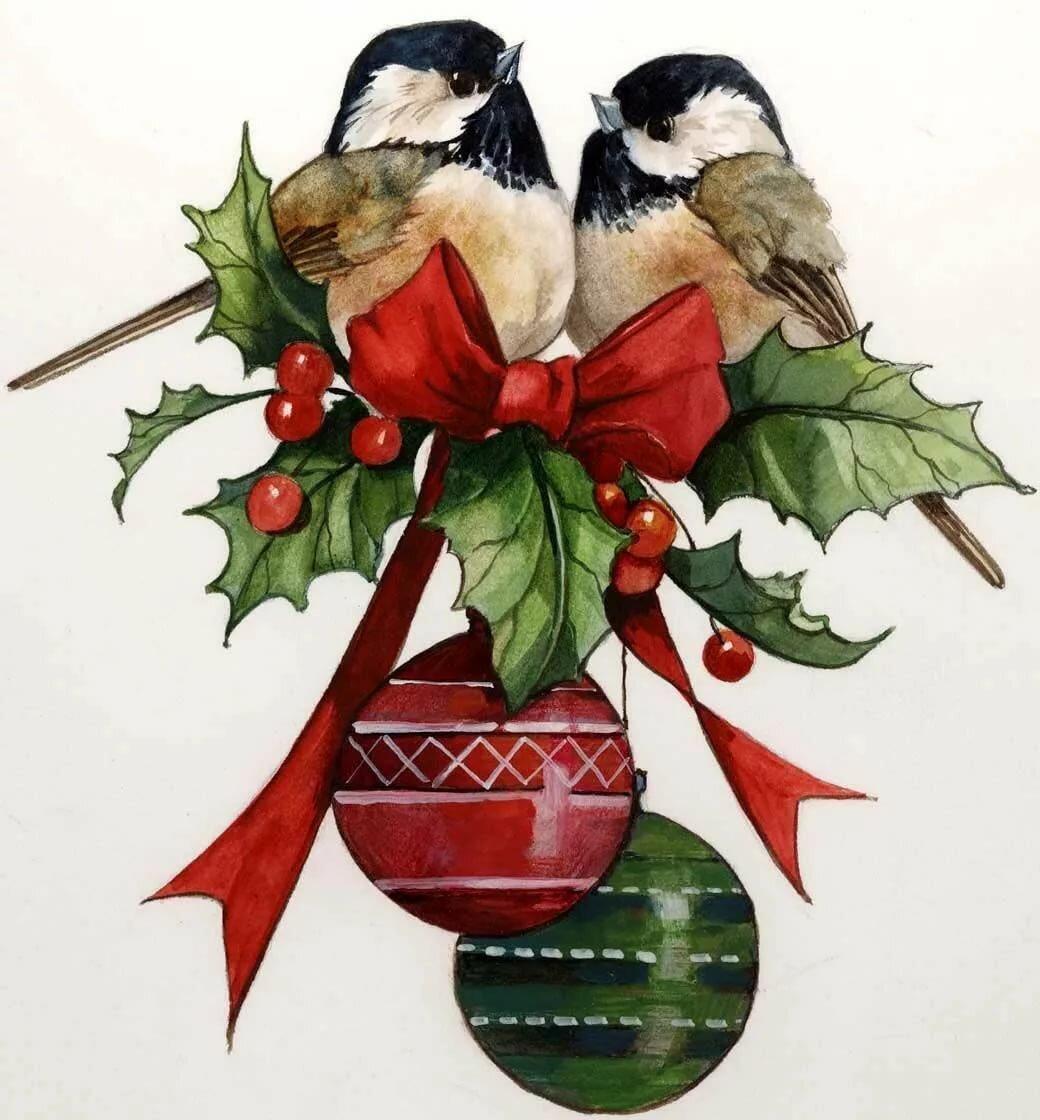 картинки новогодние с птичками здоровенную зеркалку
