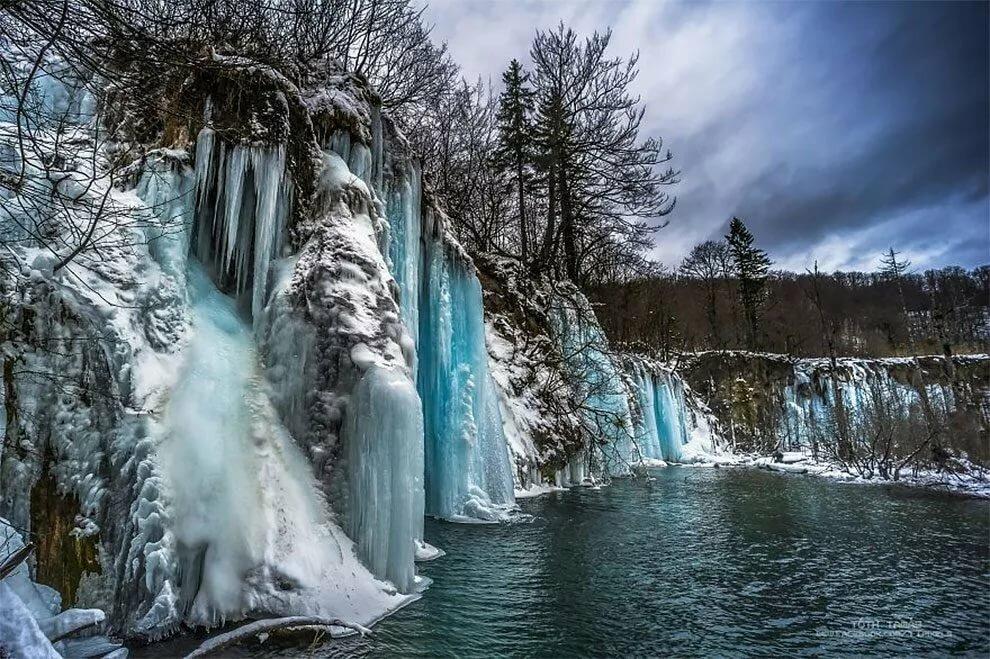 фото зимних водопадов имеет