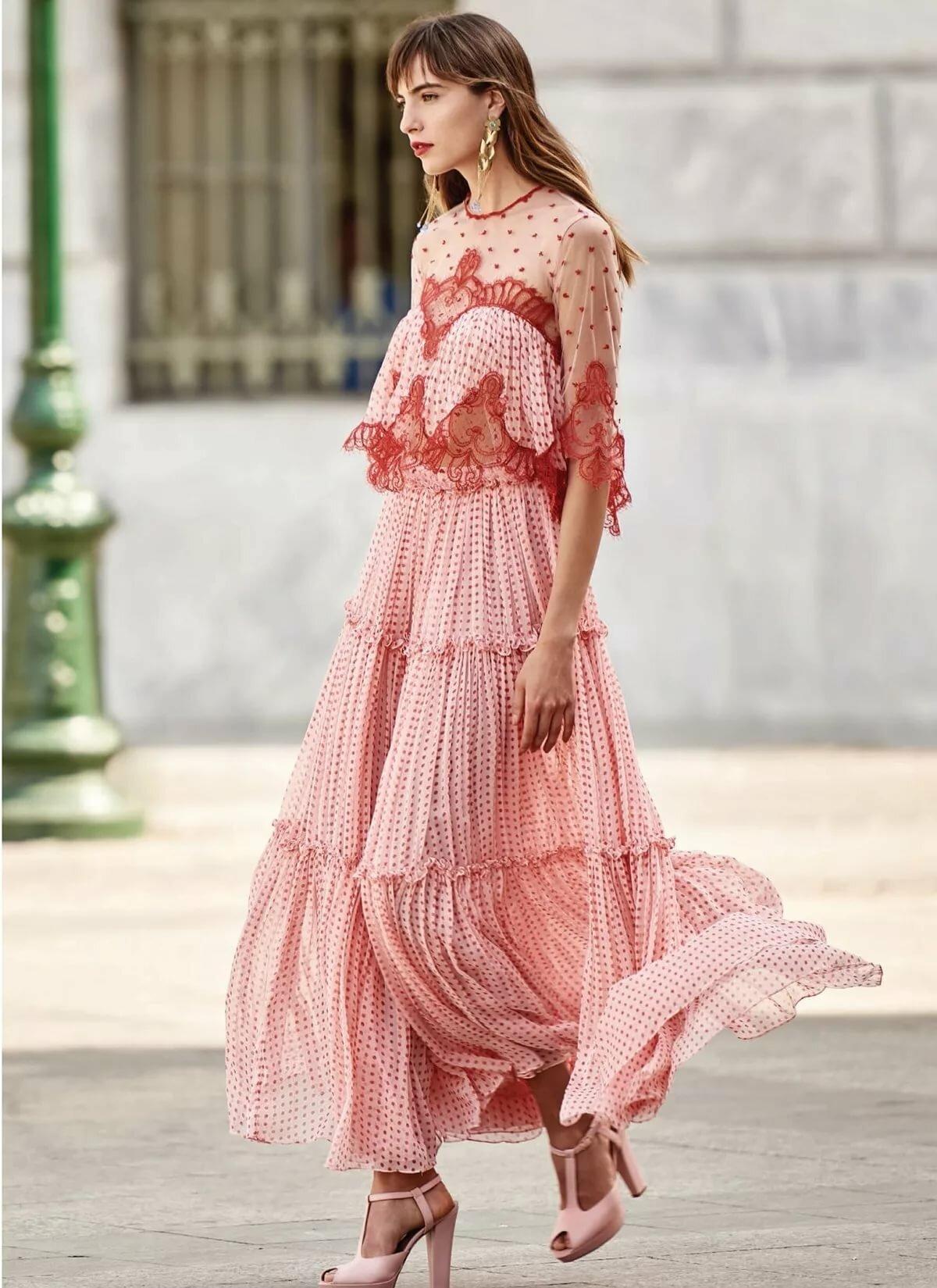 Картинки романтический стиль в одежде