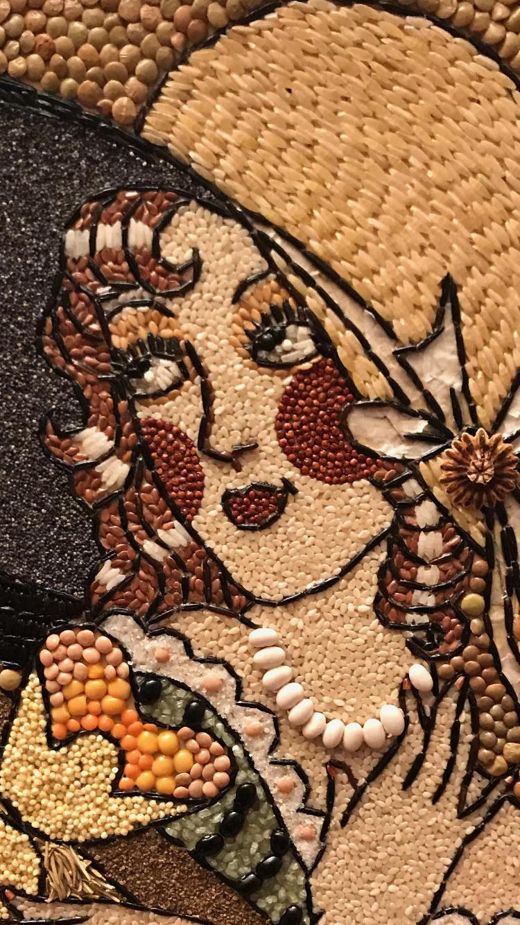 фото работы из семян картинки посуды