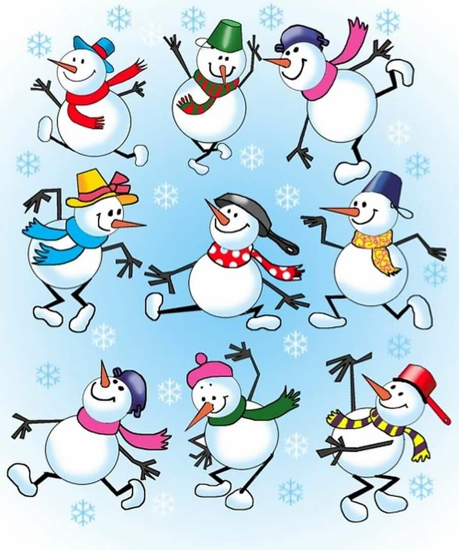Рисунки снеговика прикольные