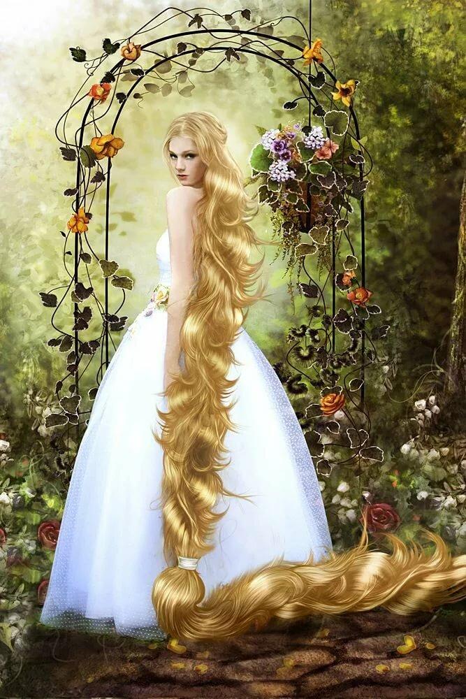 картинка фея с косой девушки