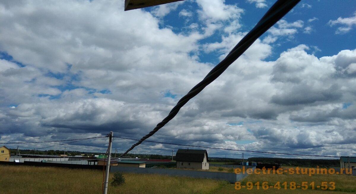 Прокладка вводного провода на даче