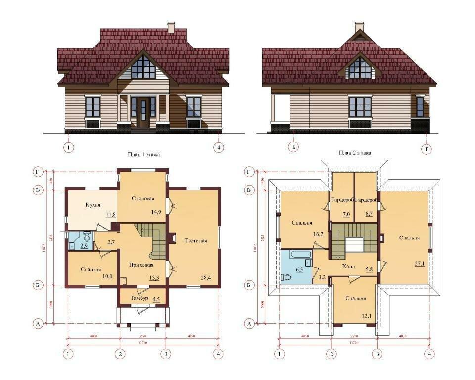 Проекты домов чертежи картинки