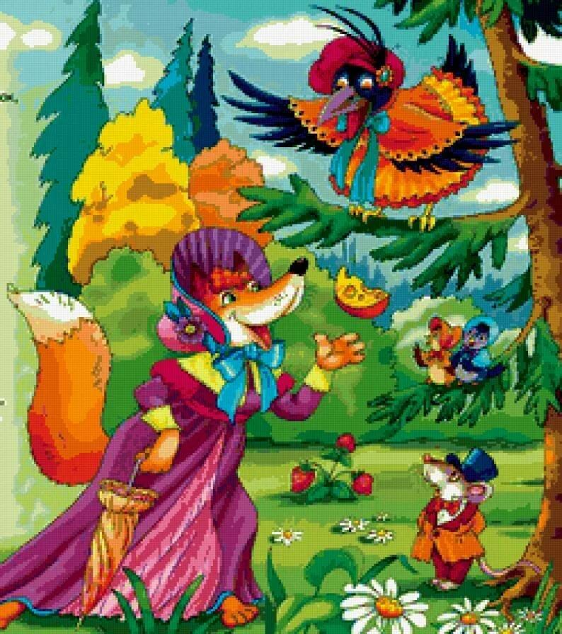 картинки сказки крылова сое субпродуктах, которых