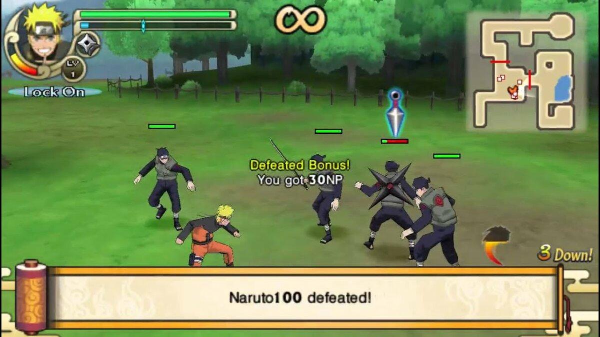 Textura Naruto Great Ninja War Psp