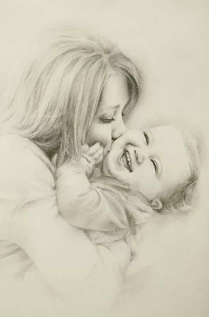 День мамы картинки карандашом