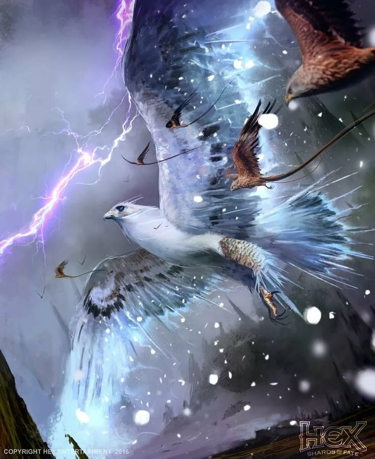 фантастические птицы арт
