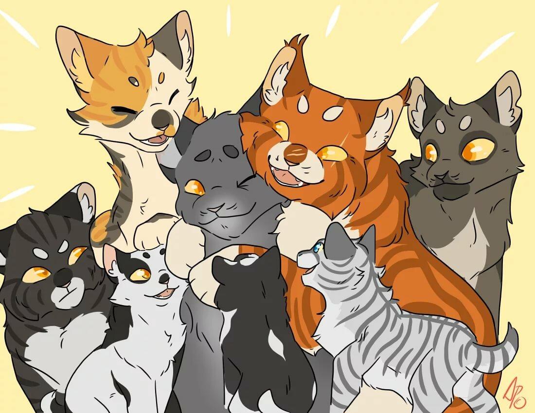 придать картинки коты-воители герои утра невесты был