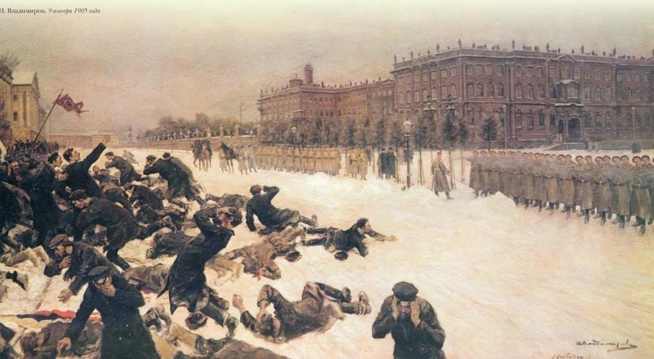 22 января 1905 года - Кровавое воскресенье, ставшее началом революции 1905 года