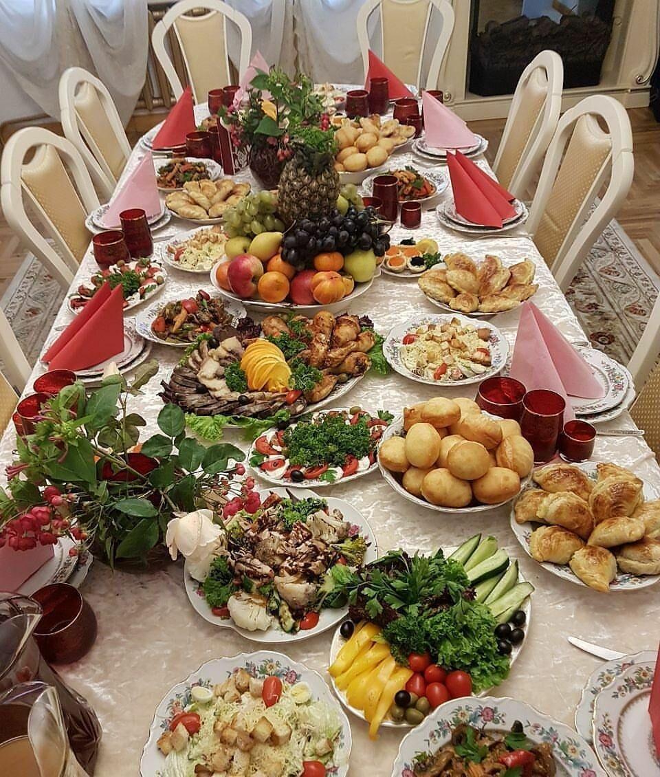 Фото праздничного стола на день рождения