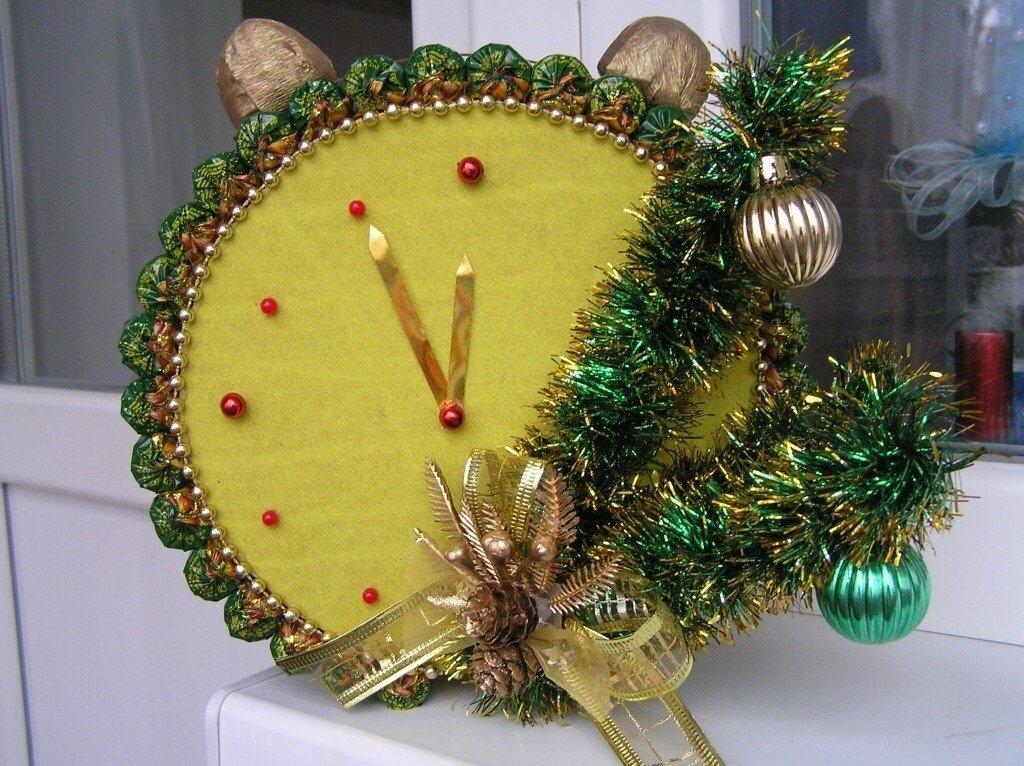 новогодние часы своими руками для фото нашей северной стране