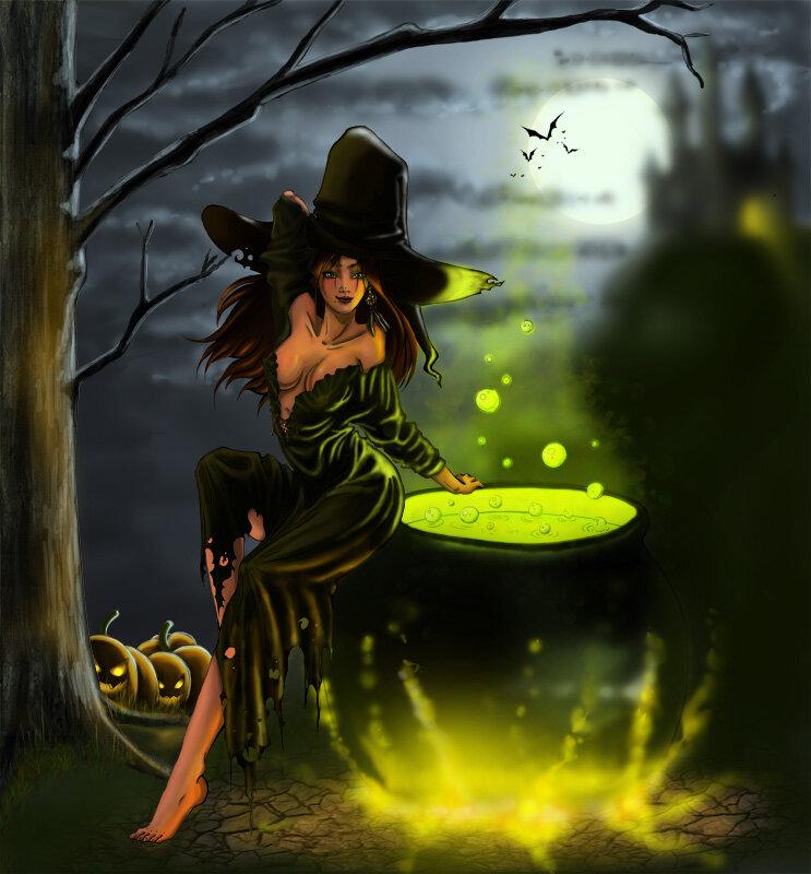 Картинка ведьмочка моя