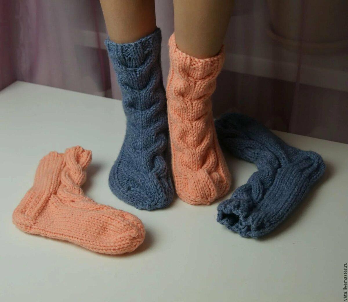 Носки вязанные картинка