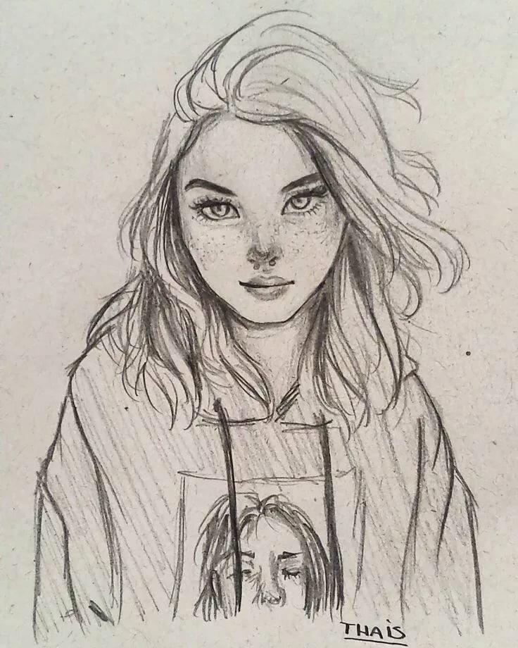 Картинки для девочек рисунки карандашом