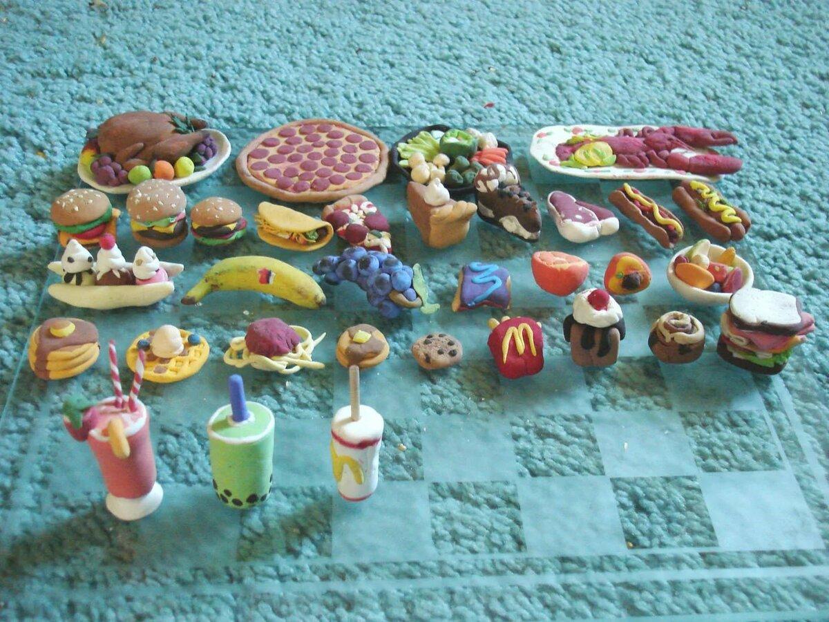 картинки еда для кукол из пластилина фронта