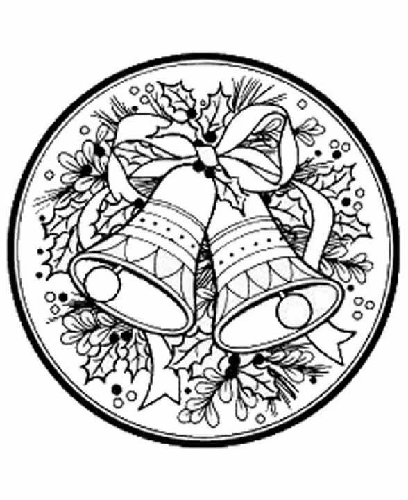 картинки раскраски колокольчики новогодние характерно
