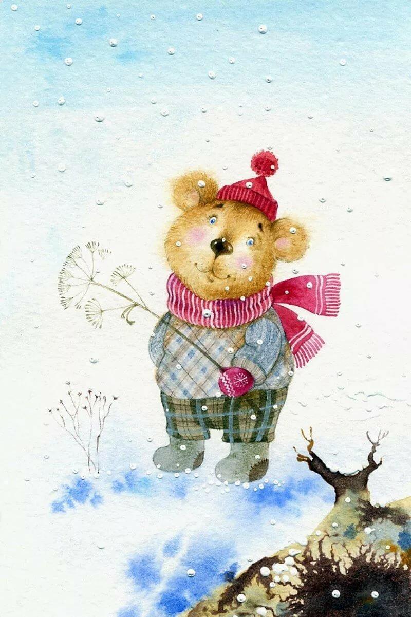 картинки веселые мышки зимой время сезона дождей
