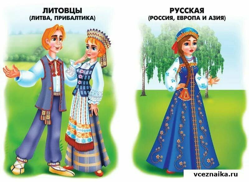 Национальные костюмы разных стран картинка