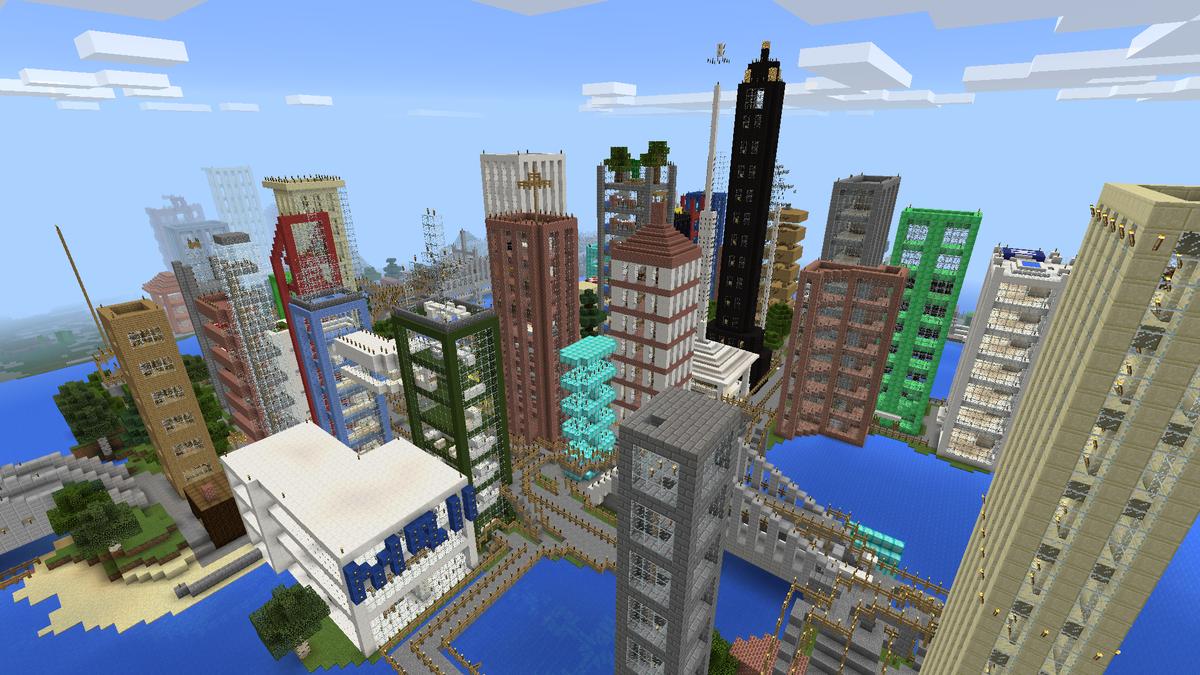 Картинки майнкрафт город как построить
