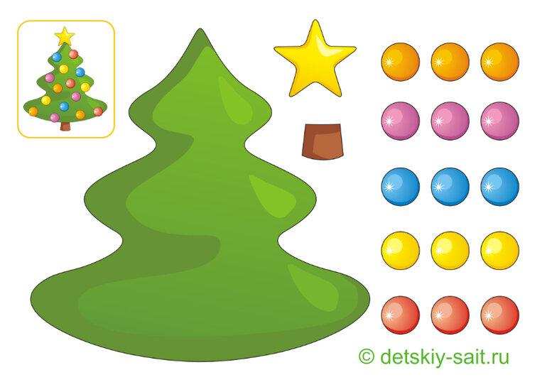 людей появляется картинка аппликация елка новогодняя тогда дочери, что