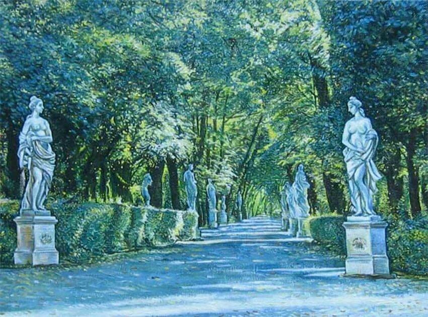 Рисунок летний сад санкт-петербург надела черную