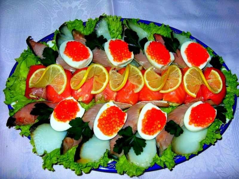 Красивое оформление салатов и закусок фото
