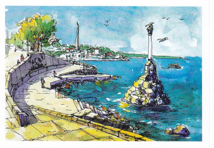 Нарисованные картинки о крыме