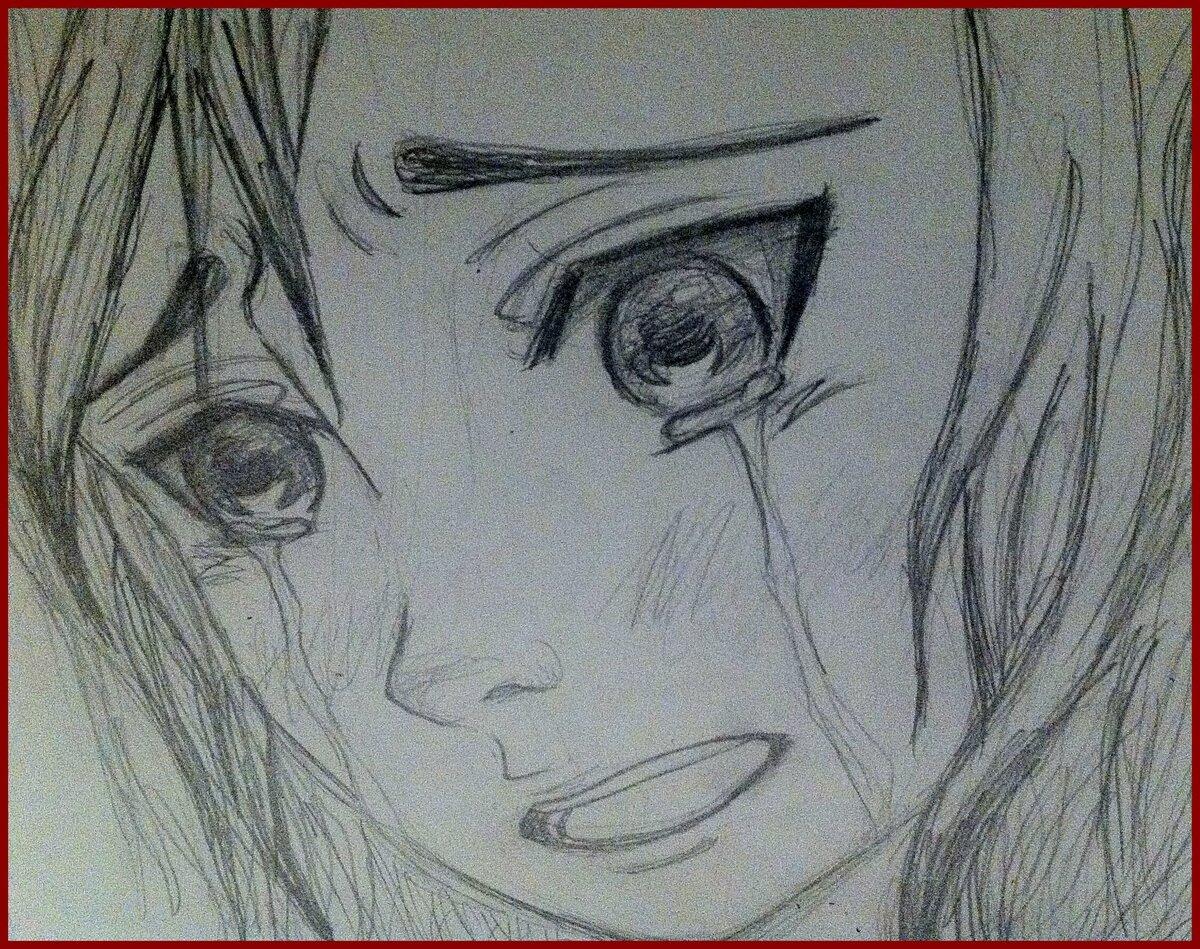 Картинки грустное лицо карандашом