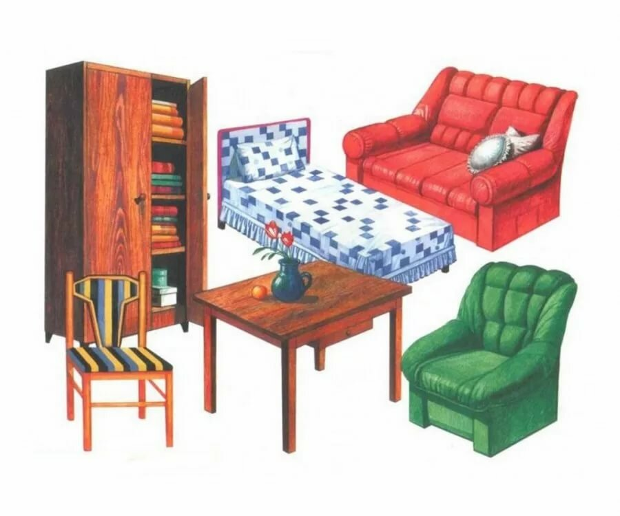 ниже картинки для игры на тему мебель рамки