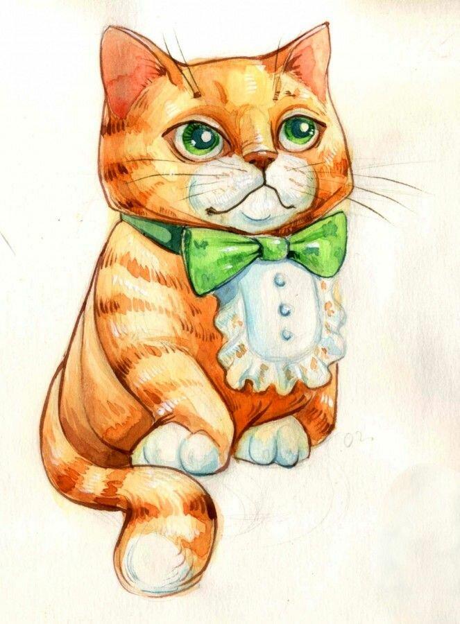 картинки где нарисованы коты мне кажется