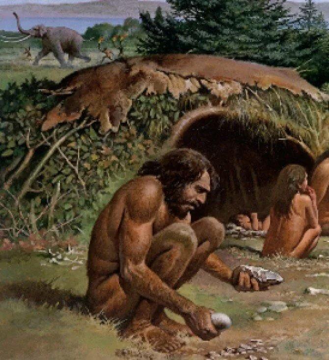 картинка неандерталец в пещере турали анализ
