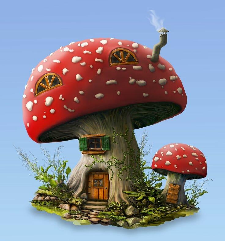 Картинки грибы из сказок