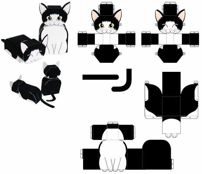 Кот из бумаги своими руками шаблоны