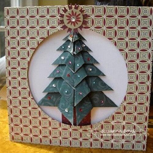 открытка с новым годом в технике оригами узнать