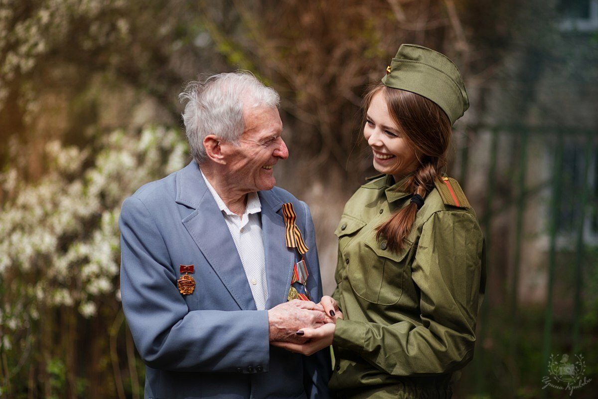 Картинки ветеранов войны с внуками