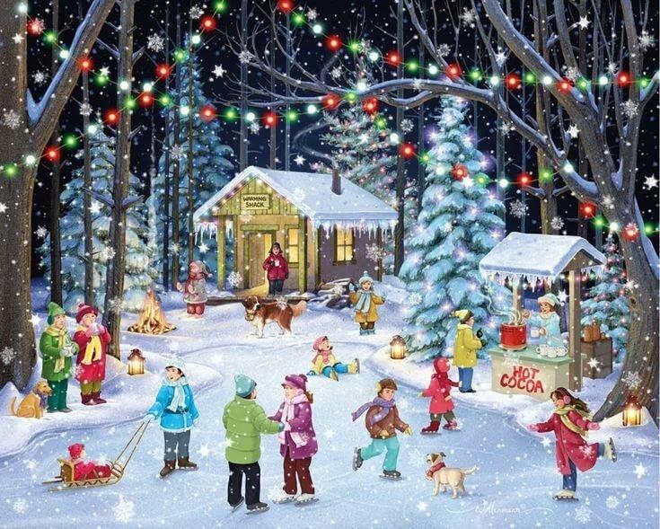 большинство картинки новогодний праздник новогодние забавы ночи
