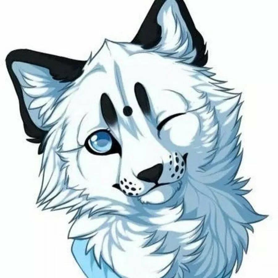 Волчата милые рисунки