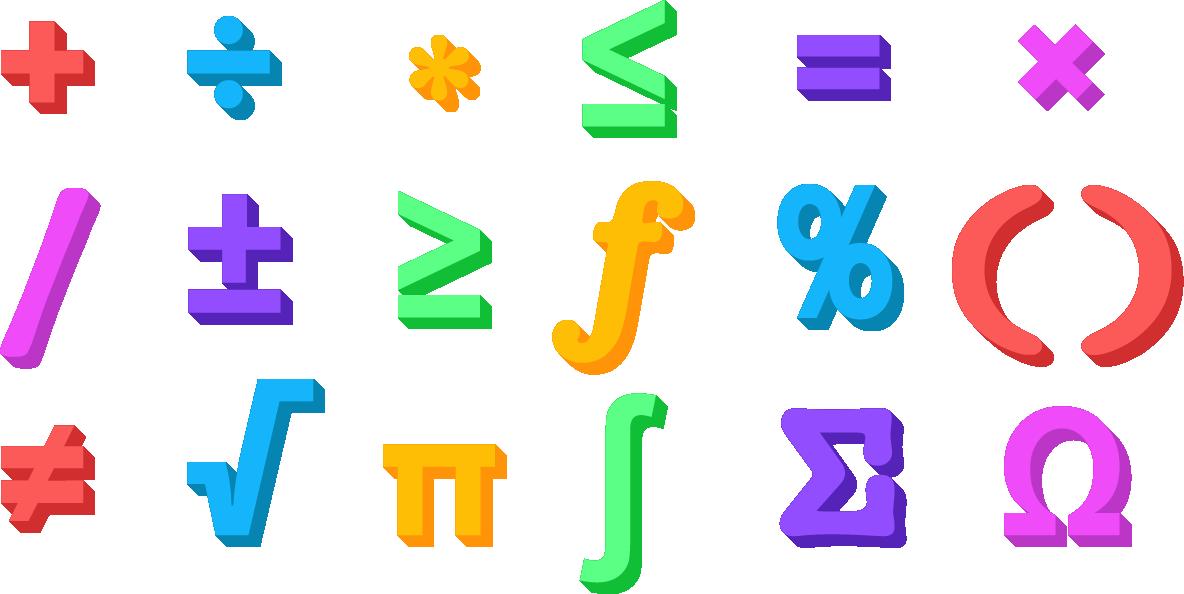Математические знаки символы картинки