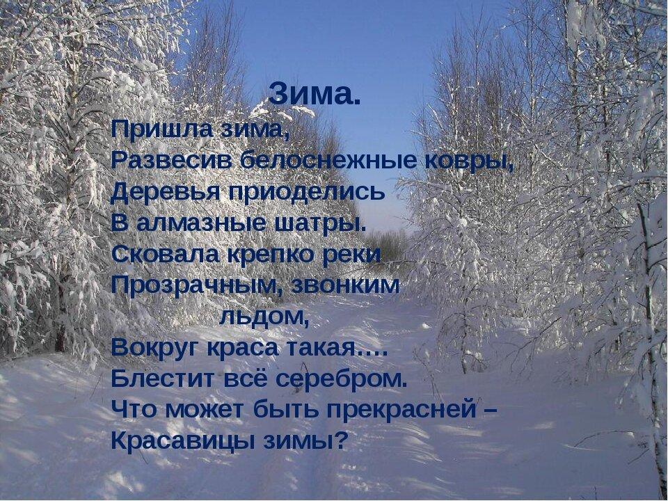 Русские поэты о зиме стихи