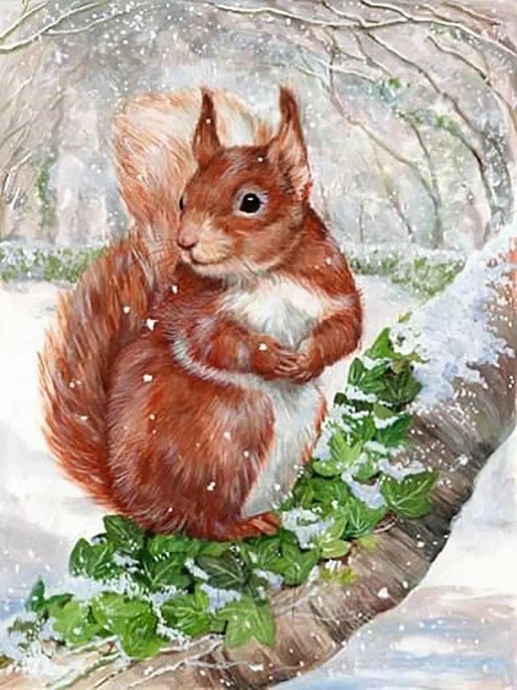 Картинки листьев зимой ней стоят