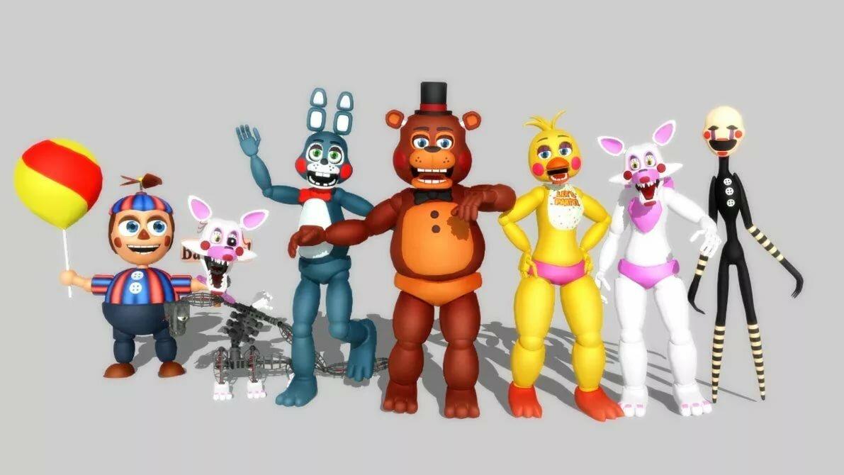 Персонажи из игры фредди картинки